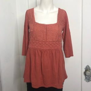 Anthropologie Top Small MEADOW RUE Crochet Boho